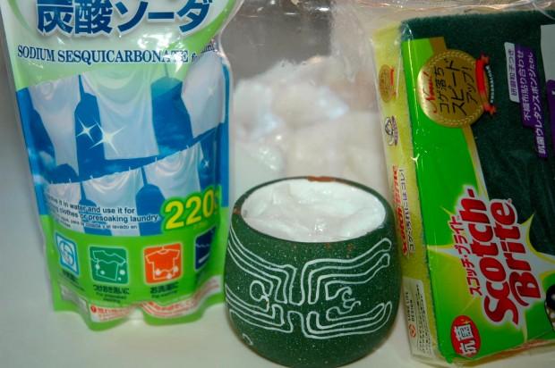 プリン石けん+炭酸ソーダの実力と合成洗剤の罪悪感