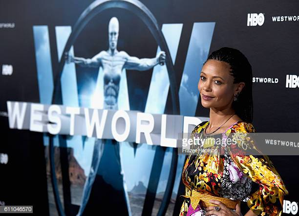"""HOLLYWOOD, CA - SEPTEMBER 28:  Actress Thandie Newton arrives at the Premiere of HBO's """"Westworld"""" - Arrivals at TCL Chinese Theatre on September 28, 2016 in Hollywood, California.  (Photo by Frazer Harrison/Getty Images)"""